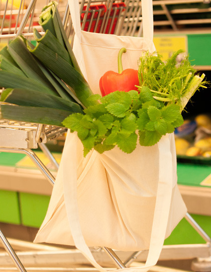 Baumwolltasche, Fairtrade-Baumwolle, natur, lange Henkel